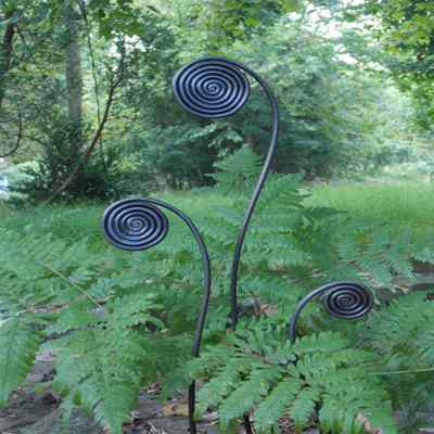 Pot Size Fiddlehead Fern Garden Stakes Set 6 The
