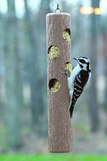 Suet Log Bird Feeder-Recycled Plastic