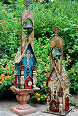 Tall Church Birdhouse-Large Bell