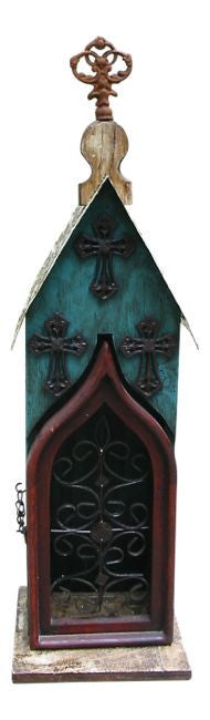Monastery Cabinet-Teal