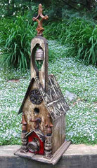 Church Birdhouse with Bell