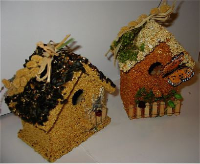 Edible Birdhouse-Set of 2 Birdie Cottages