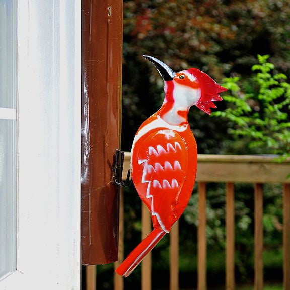 Woodpecker Garden Sculpture-Recycled Metal