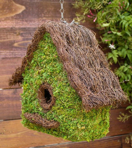 Natural Woven Birdhouse- Large