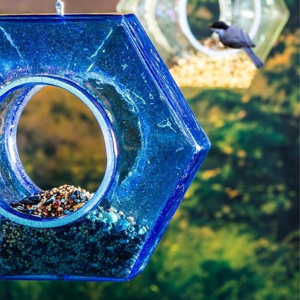 Hex Hanging Bird Feeder
