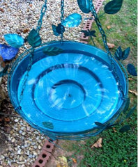 Solar Fountain Hanging Bird Bath