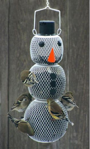 Snow Man Wild Bird Feeder
