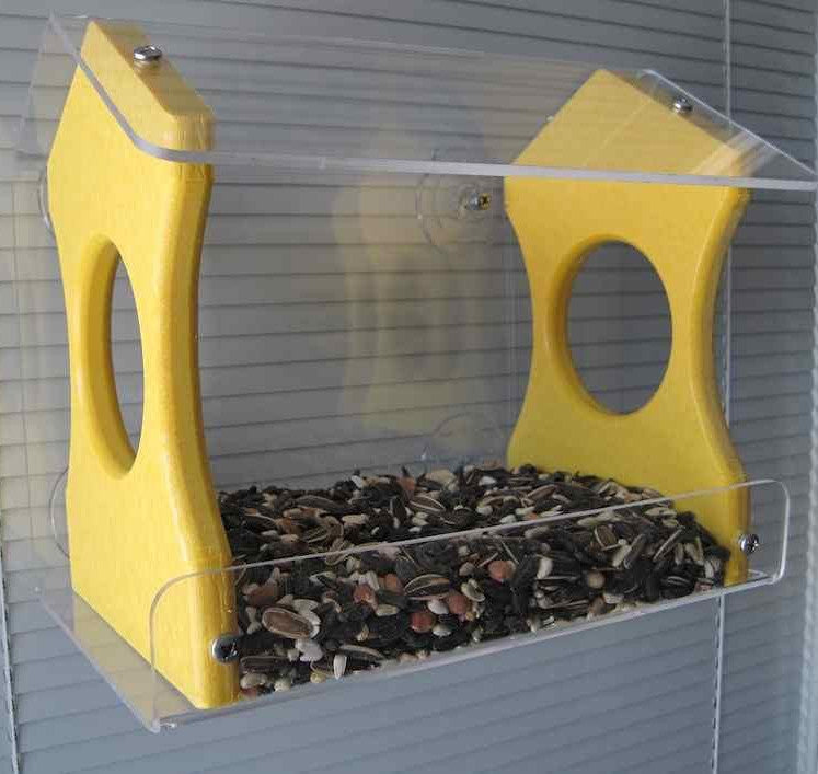 Recycled Window Bird Feeder-Medium