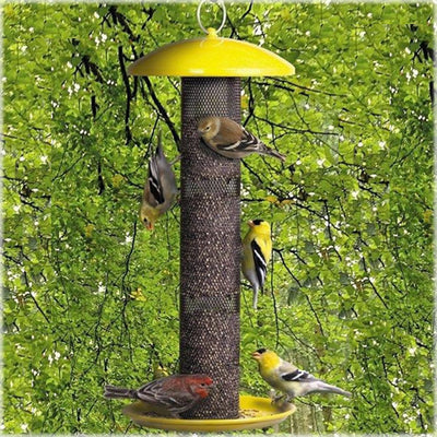 No-No Yellow Finch Feeder with Tray