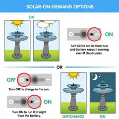 Solar Bird Bath On-Demand Performance