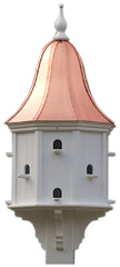 Copper Roof Purple Martin Birdhouse 54x22 Vinyl/PVC 12 Nest
