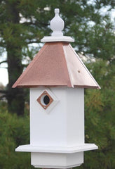 Vinyl Bluebird House-Hammered Copper Roof
