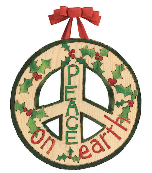Peace On Earth Door Hanger