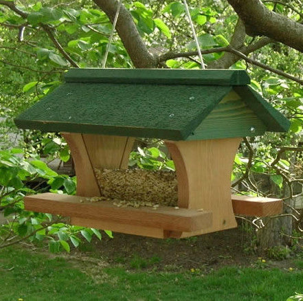 Pivot Roof Hanging Hopper Bird Feeder The Birdhouse Chick