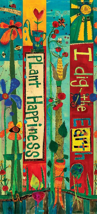 Plant Happiness Art Pole- Detail
