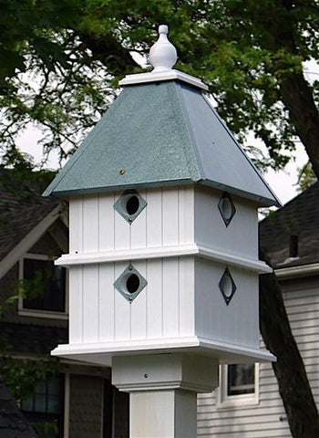 Dovecote Plantation Birdhouse in Vinyl/PVC-8 Nest