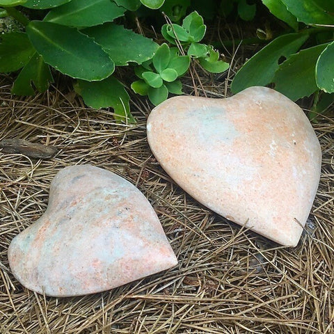 Polished Granite Garden Hearts
