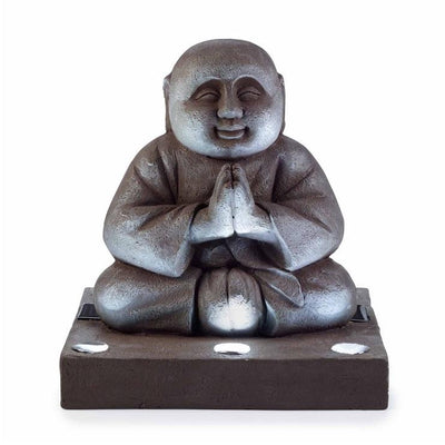 Lighted Praying Buddha Statue