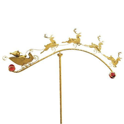 Reindeer and Sleigh Garden Stake
