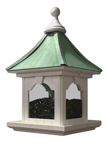 Copper Roof Bird Feeder with Large Capacity- Hanging