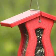Recycled Large Capacity Peanut Feeder-Red