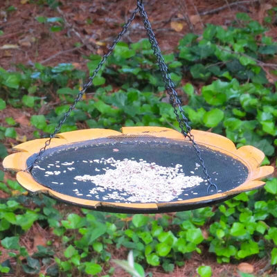Recycled Tire Large Platform Bird Feeder