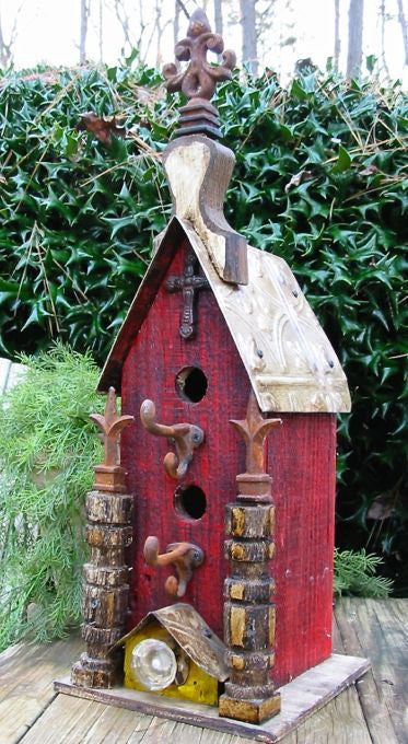 Vintage Church Birdhouse-2 Entries