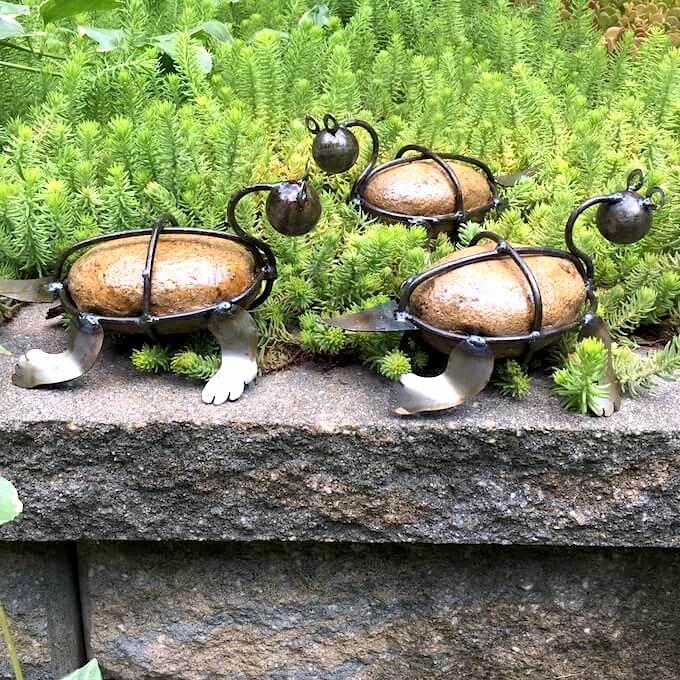 Rock Turtle Garden Sculptures
