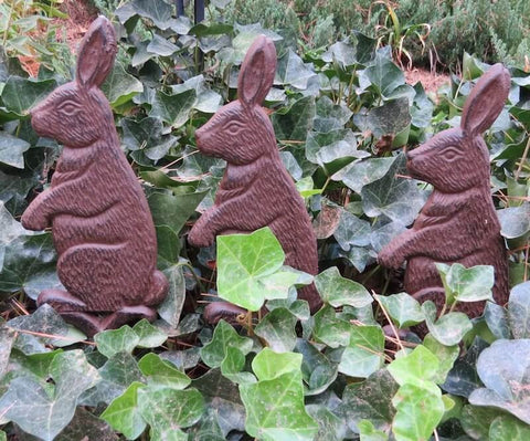 Iron Rabbit Garden Stakes Set/3