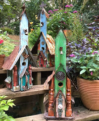 Rustic Church Birdhouses-Tall