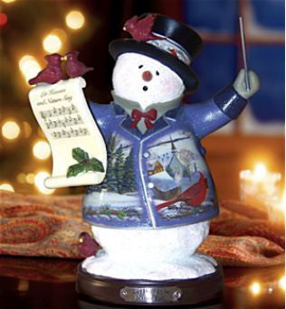 Heaven & Nature Sing Snowman Figurine