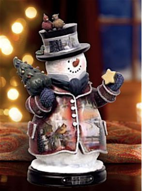 Season's Greetings Snowman Figurine