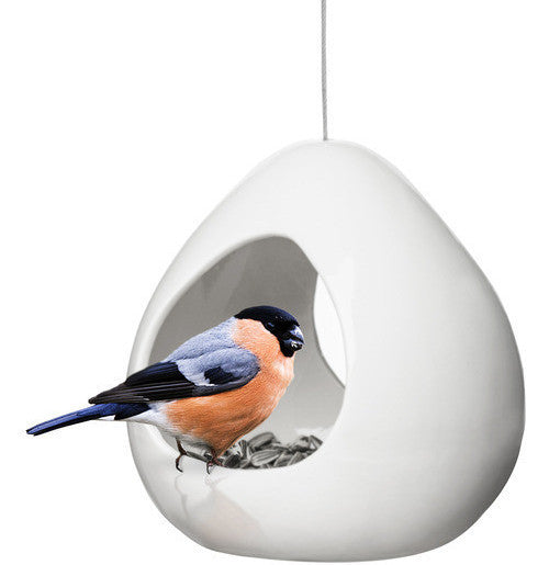 Birdies Fly-Thru Ceramic Bird Feeder