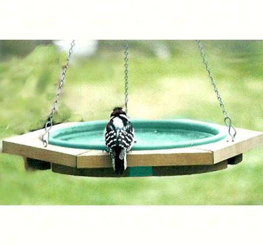 Classic Hanging Bird Bath-Green