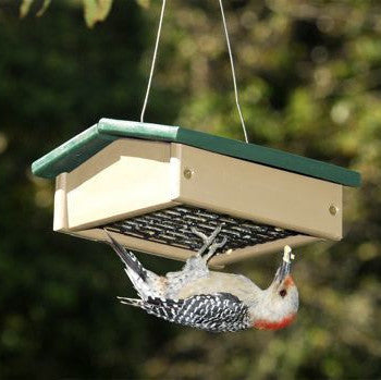 Recycled Upside Down Suet feeder