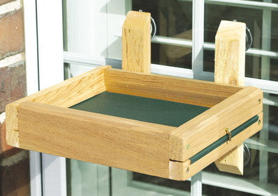 Window Mount Platform Feeder with Removable Tray