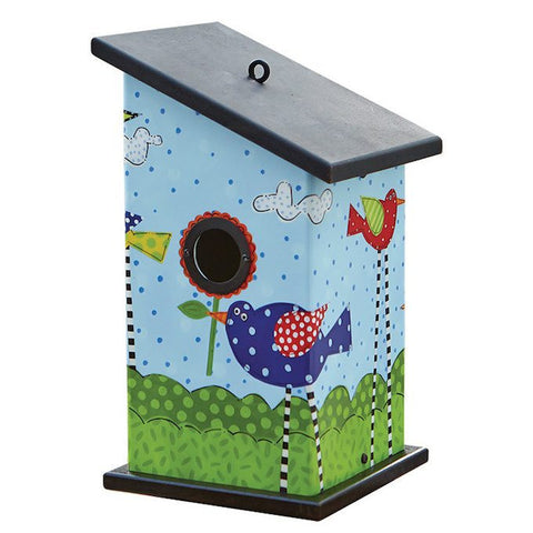 Bird Party Art Vinyl Birdhouse