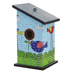 Bird Party Vinyl Birdhouse