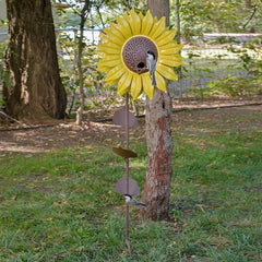 Steel Sunflower Bird Feeder