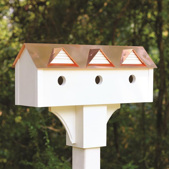 Copper & Vinyl Sweet Suites Triple Birdhouse
