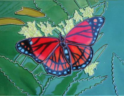 Ceramic Art Tile-Butterfly 8x12