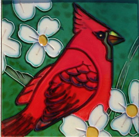 Ceramic Art Tiles-Cardinals Set/2
