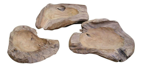 Raw Teak Root Bowl