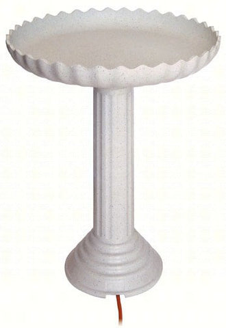 Heated Pedestal Bird Bath