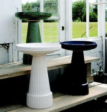 Universal Tall Bird Bath in Dove White