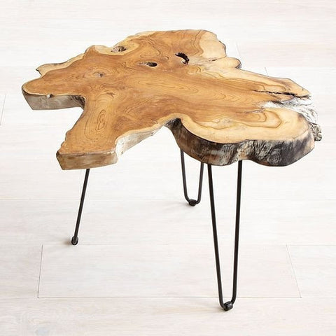 Teak Root Slab Side Table