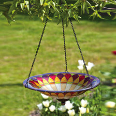 Tiffany Glass Hanging Bird Bath