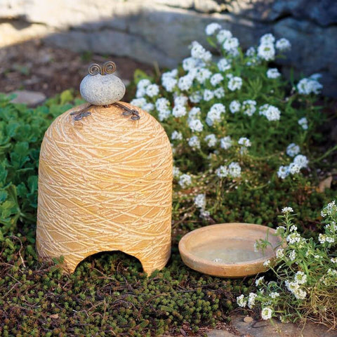 Pottery Toad House with Drinker