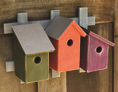 Trellis Trio Birdhouse in Traditional Palette