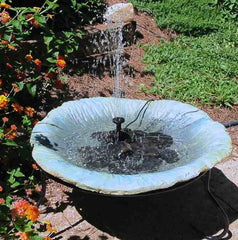 Lotus Pond Solar Bird Bath